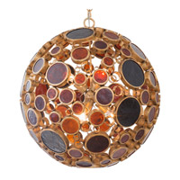 Varaluz Fascination 6 Light Pendant in Kolorado with Amber Glass 265P06KO