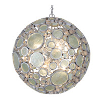 Varaluz Fascination 6 Light Pendant in Nevada with Clear Glass 265P06NV
