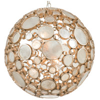 Varaluz Fascination 6 Light Pendant in Zen Gold with Champagne Glass 265P06ZG