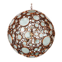 Fascination 8 Light 30 inch Hammered Ore Pendant Ceiling Light