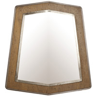 Lofty 32 X 29 inch Wheat and Steel Wall Mirror Home Decor, Varaluz Casa
