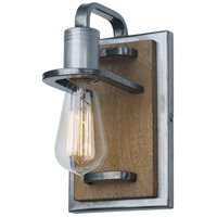Lofty 1 Light 5 inch Wheat and Steel Vanity Wall Light