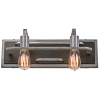 Varaluz 268B02SL Lofty 2 Light 17 inch Steel Vanity Wall Light