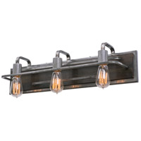 Varaluz 268B03SL Lofty 3 Light 26 inch Steel Vanity Wall Light