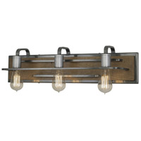 Lofty 3 Light 26 inch Wheat and Steel Vanity Wall Light
