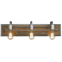 Varaluz 268B03SLW Lofty 3 Light 26 inch Wheat and Steel Vanity Wall Light