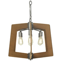 Lofty 6 Light 24 inch Wheat and Steel Chandelier Ceiling Light