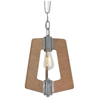 Varaluz 268M01SLW Lofty 1 Light 12 inch Wheat and Steel Mini Pendant Ceiling Light