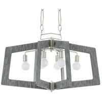 Varaluz 268N06SOG Lofty 6 Light 36 inch Silverado and Gray Pendant Ceiling Light