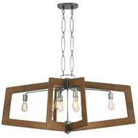 Varaluz 268N08SLW Lofty 8 Light 48 inch Wheat and Steel Linear Pendant Ceiling Light, Oval