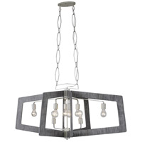 Lofty 8 Light 48 inch Silverado and Grey Linear Pendant Ceiling Light