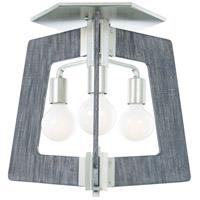 Varaluz 268S03SOG Lofty 3 Light 19 inch Silverado and Gray Flush Mount Ceiling Light