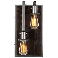 Varaluz 268W02LSL Lofty 2 Light 8 inch Steel and Faux Zebrawood Wall Sconce Wall Light in Faux Zebrawood and Steel, Left