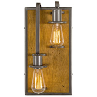 Varaluz 268W02LSLW Lofty 2 Light 8 inch Steel and Wheat Wall Sconce Wall Light in Wheat and Steel, Left