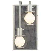 Varaluz 268W02LSOG Lofty 2 Light 8 inch Silverado and Gray Wall Sconce Wall Light