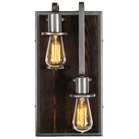Varaluz 268W02RSL Lofty 2 Light 8 inch Steel and Faux Zebrawood Wall Sconce Wall Light in Faux Zebrawood and Steel, Right