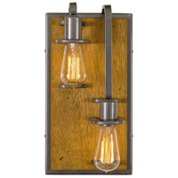Varaluz 268W02RSLW Lofty 2 Light 8 inch Steel and Wheat Wall Sconce Wall Light in Wheat and Steel, Right