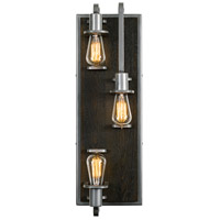 Varaluz 268W03SL Lofty 3 Light 8 inch Steel and Faux Zebrawood Wall Sconce Wall Light in Faux Zebrawood and Steel