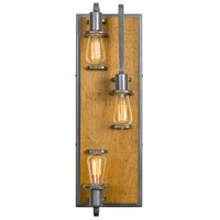 Varaluz 268W03SLW Lofty 3 Light 8 inch Steel and Wheat Wall Sconce Wall Light in Wheat and Steel