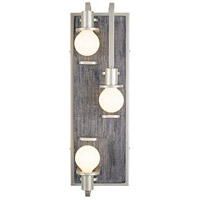 Varaluz 268W03SOG Lofty 3 Light 8 inch Silverado and Gray Wall Sconce Wall Light