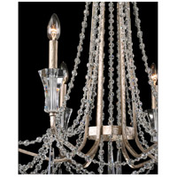 Barcelona 6 Light 27 inch Transcend Silver Chandelier Ceiling Light, Optic Crystal