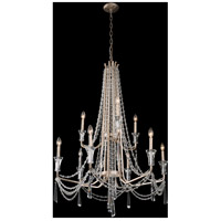 Barcelona 9 Light 35 inch Transcend Silver Chandelier Ceiling Light, 2-Tier, Optic Crystal