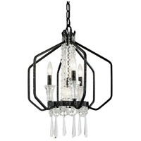 Varaluz 270P04OX Barcelona 4 Light 18 inch Onyx and Clear Pendant Ceiling Light