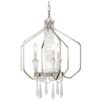 Varaluz 270P04TR Barcelona 4 Light 18 inch Transcend Silver and Clear Pendant Ceiling Light