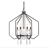Varaluz 270P07OX Barcelona 7 Light 26 inch Onyx and Clear Pendant Ceiling Light