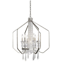 Varaluz 270P07TR Barcelona 7 Light 26 inch Transcend Silver and Clear Pendant Ceiling Light