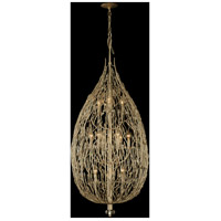 Bask 12 Light 22 inch Gold Dust Foyer Pendant Ceiling Light, Premium Pre-Installed Crystal