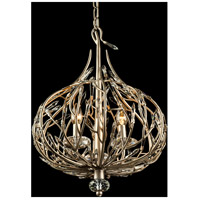 Varaluz 271M03GD Bask 3 Light 16 inch Gold Dust Mini Pendant Ceiling Light, Premium Pre-Installed Crystal