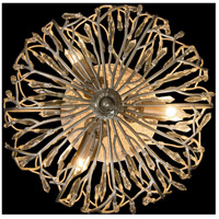 Bask 3 Light 18 inch Gold Dust Semi-Flush Ceiling Light, Premium Pre-Installed Crystal