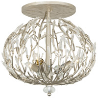 Varaluz 271S03GD Bask 3 Light 18 inch Gold Dust Semi-Flush Ceiling Light, Premium Pre-Installed Crystal
