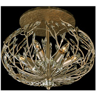 Bask 6 Light 20 inch Gold Dust Semi-Flush Ceiling Light, Premium Pre-Installed Crystal