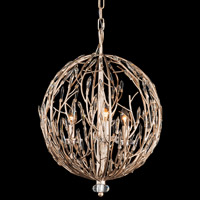 Varaluz 272P03GD Bask 3 Light 18 inch Gold Dust Pendant Ceiling Light