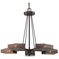 Gold Rush 24 inch Rustic Bronze Chandelier Ceiling Light