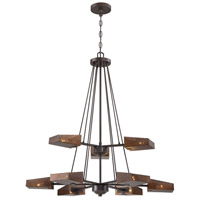 Gold Rush 32 inch Rustic Bronze Chandelier Ceiling Light