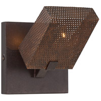 Varaluz Gold Rush 1 Light Wall Sconce in Rustic Bronze 273K01RB