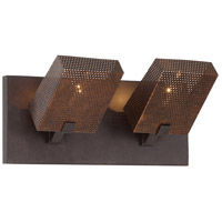 Varaluz Gold Rush 2 Light Vanity in Rustic Bronze 273K02RB