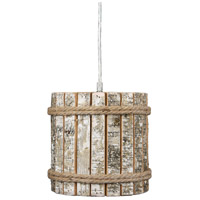 Woody 1 Light 8 inch Brushed Nickel Mini Pendant Ceiling Light
