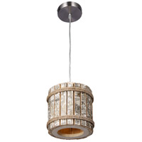 Varaluz 276M01B Woody 1 Light 9 inch Brushed Nickel Pendant Ceiling Light alternative photo thumbnail