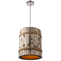 Varaluz 276P01 Woody 1 Light 12 inch Brushed Nickel Pendant Ceiling Light