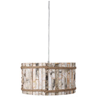 Varaluz 276P01B Woody 1 Light 19 inch Brushed Nickel Pendant Ceiling Light