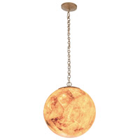 Big 1 Light 10 inch Gold Dust Mini Pendant Ceiling Light, Orb, Reclaimed Champagne Shell