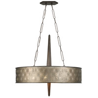 Iconic 6 Light 36 inch Champagne Mist Linear Pendant Ceiling Light, Champagne Mist Metal