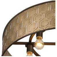 Iconic 6 Light 30 inch Champagne Mist Pendant Ceiling Light, Drum, Champagne Mist Metal