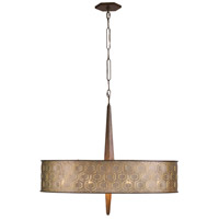 Iconic 9 Light 36 inch Champagne Mist Pendant Ceiling Light, Drum, Champagne Mist Metal