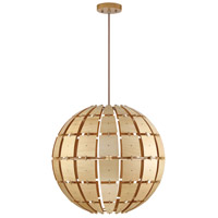 Wooda Coulda Shoulda 1 Light 24 inch Yellow Birch Pendant Ceiling Light, Yellow Birch Steam-Bent Plywood