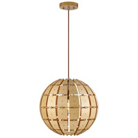 Wooda Coulda Shoulda 1 Light 16 inch Yellow Birch Pendant Ceiling Light, Yellow Birch Steam-Bent Plywood